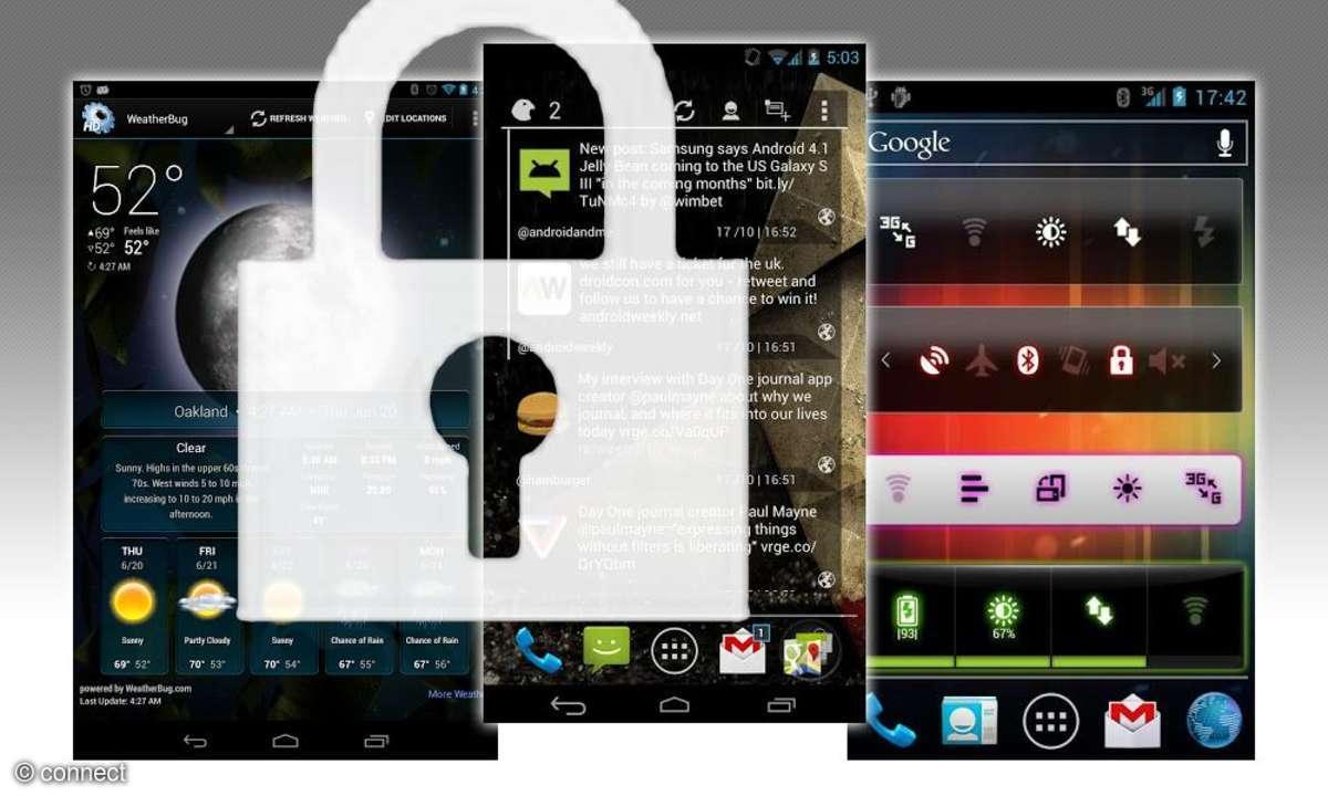 Lockscreen-Widgets für Android