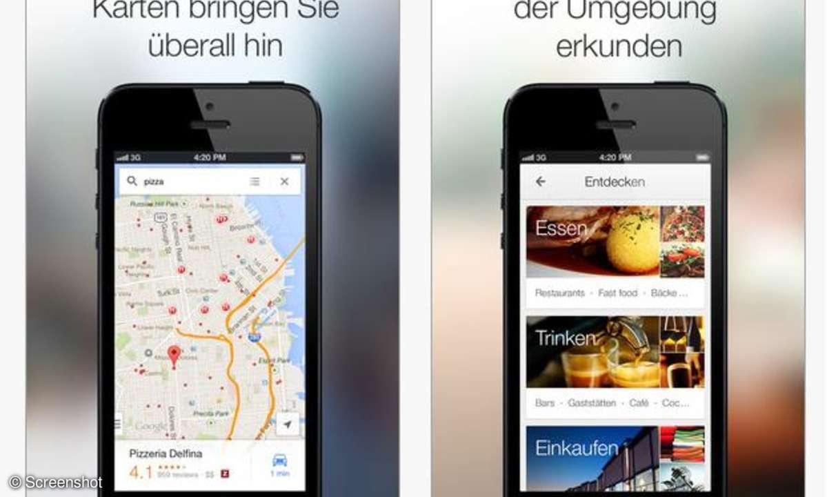 Google Maps für iOS,