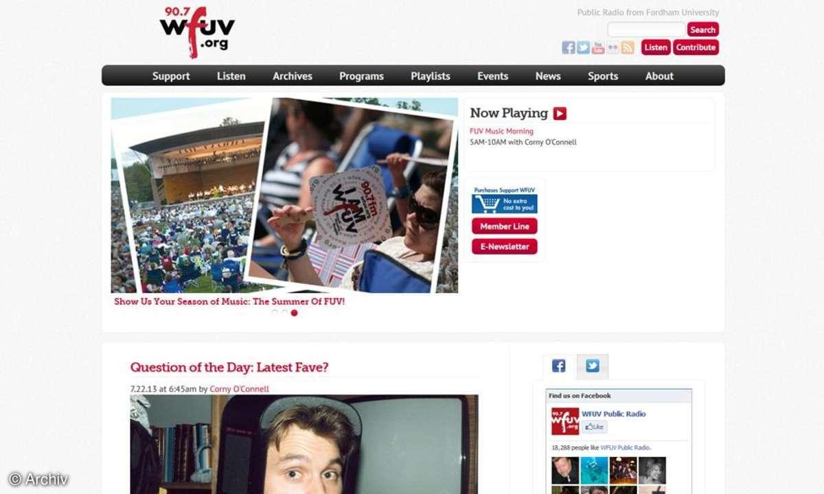WFUV Startseite