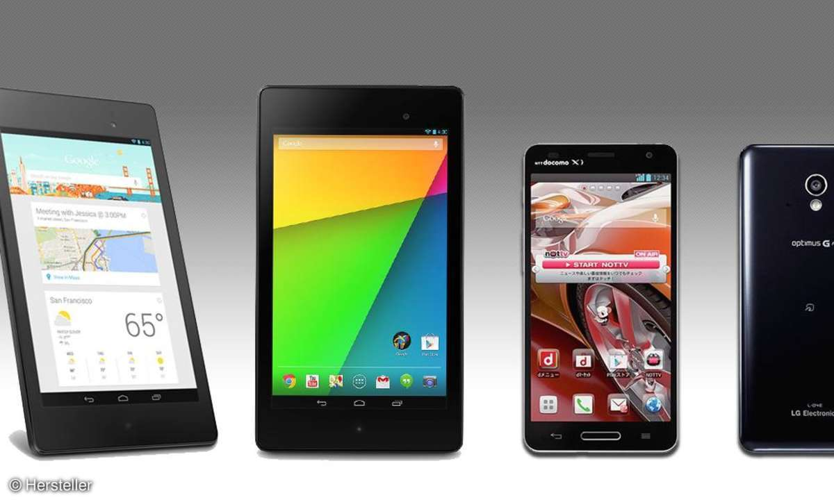 Google Nexus 7, LG Optimus G Pro