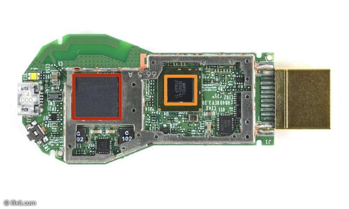 So sieht Googles Chromecast von innen aus.