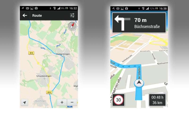 skobbler gps navigation maps f r android im test connect. Black Bedroom Furniture Sets. Home Design Ideas