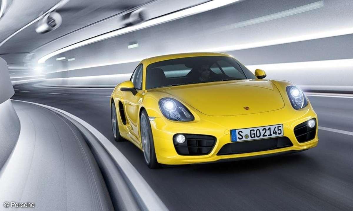 Porsche prescht durch Tunnel
