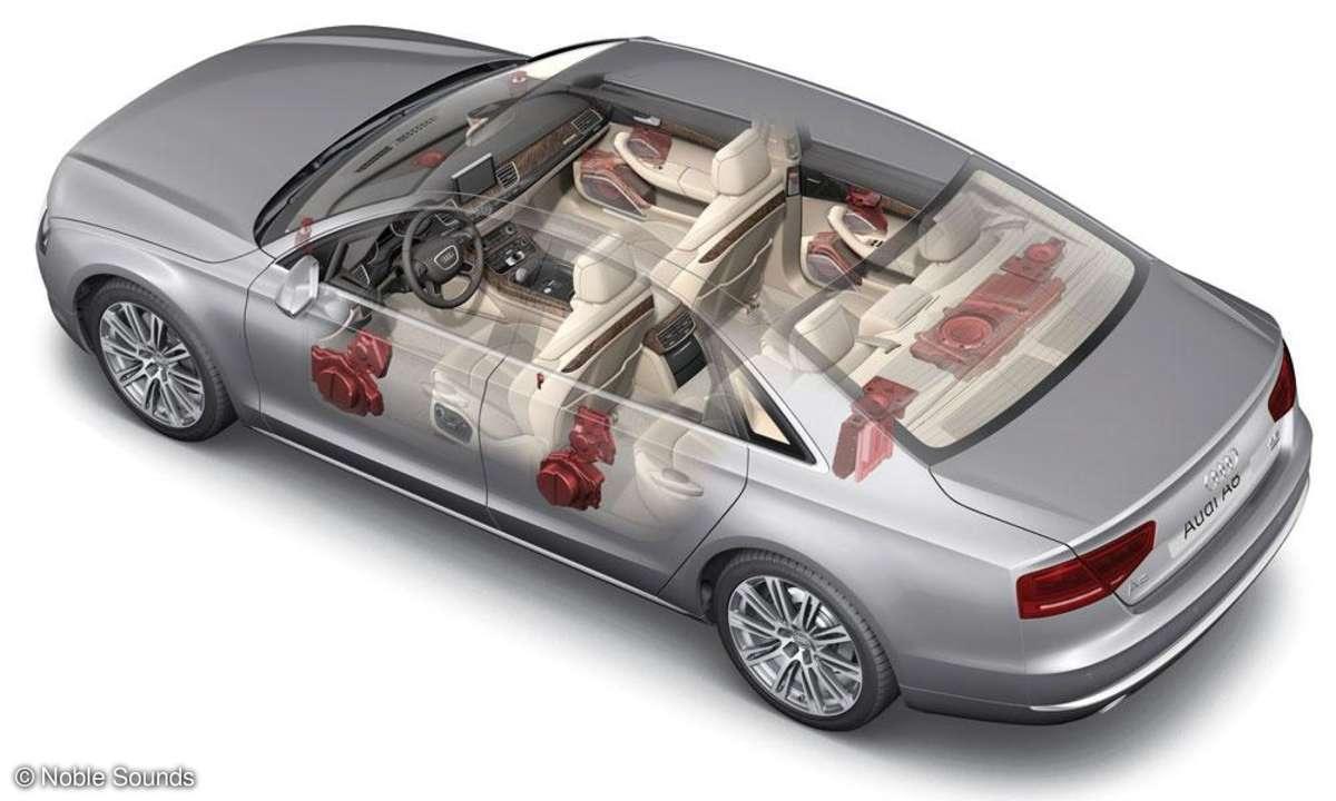 Audi A8 L Boxenverteilung
