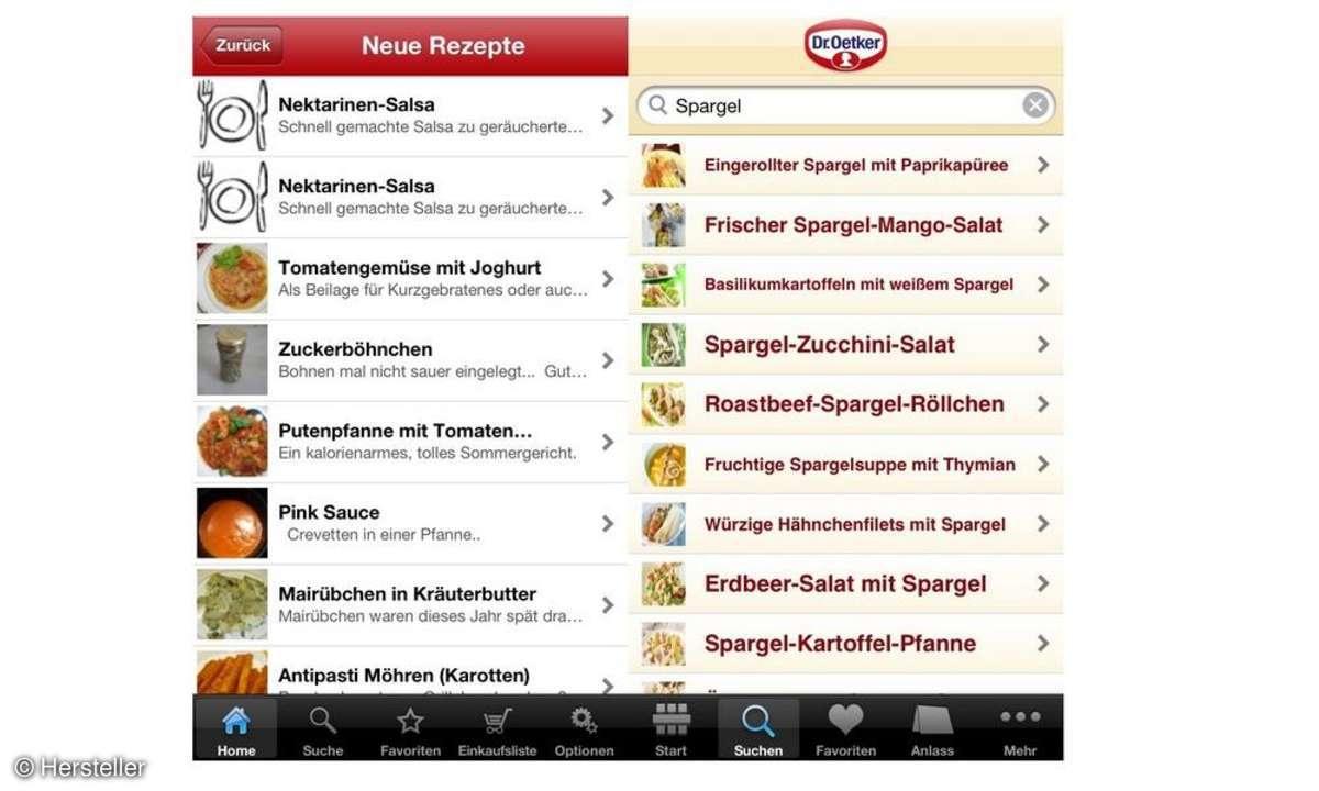 Koch- und Rezepte-Apps