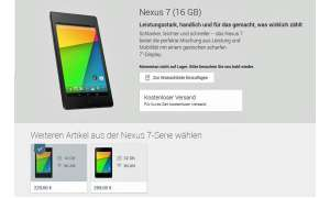 Nexus 7 bei Google Play
