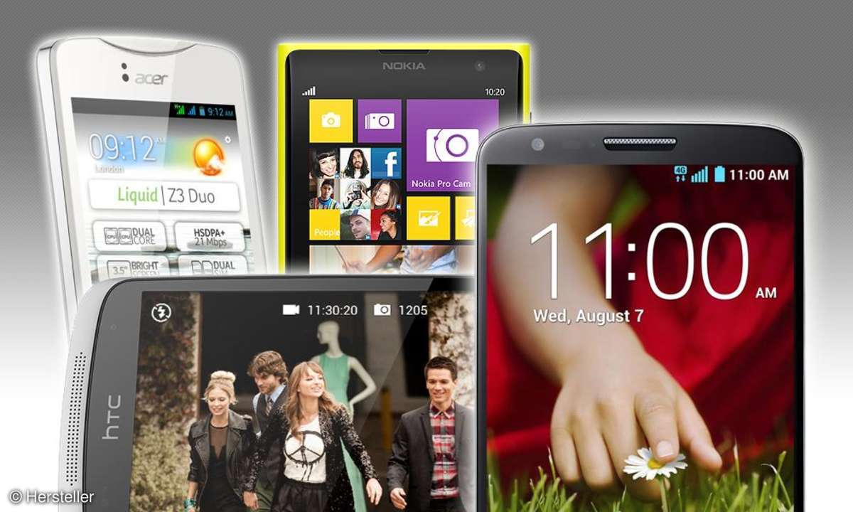 Liquid Z3, Lumia 1020, Desire 500, G2