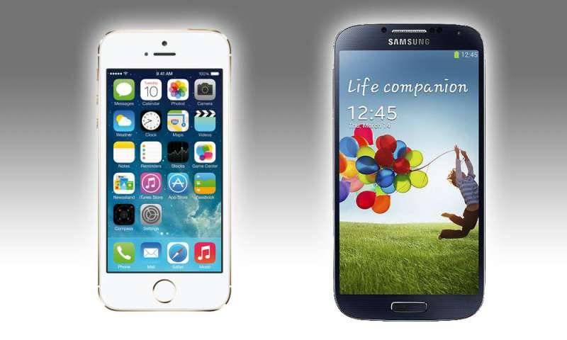iphone 5s oder galaxy s4 apple vs samsung smartphones im vergleich connect. Black Bedroom Furniture Sets. Home Design Ideas
