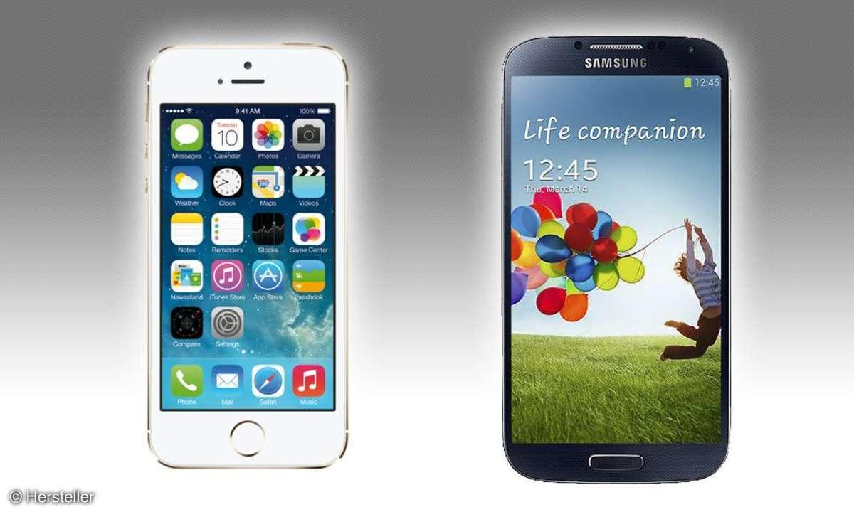 Apple iPhone 5S vs. Samsung Galaxy S4