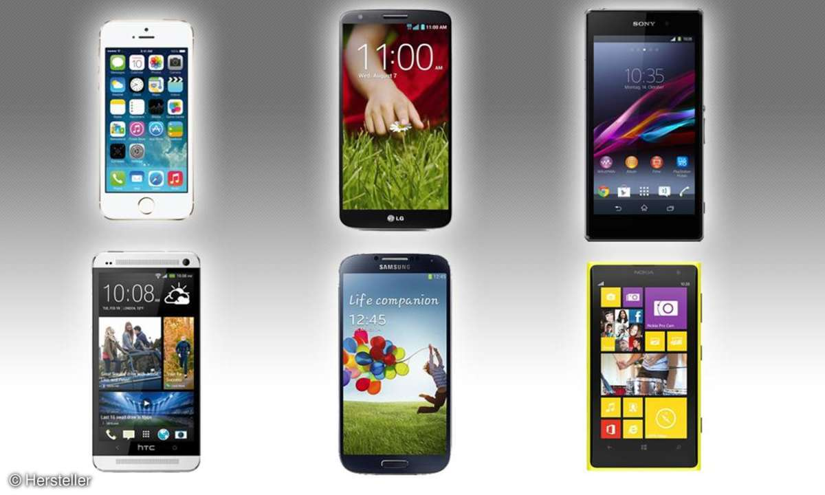 iPhone 5S, G2, Z1, S4, One, 1020