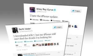 iOS 7 Twitter Reaktionen