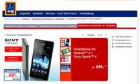 Aldi,Sony Xperia V,Aktion