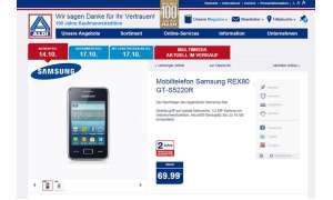 Aldi Nord,Samsung Rex80,Handy