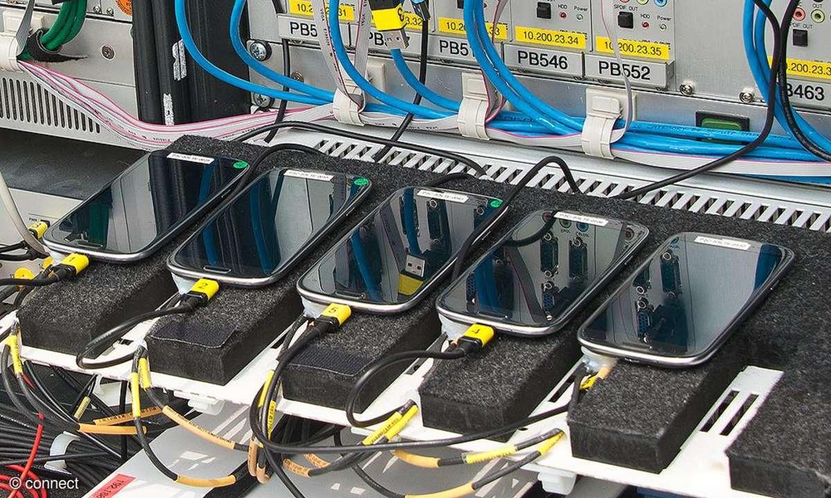 connect Netztest 2013: Test-Handys