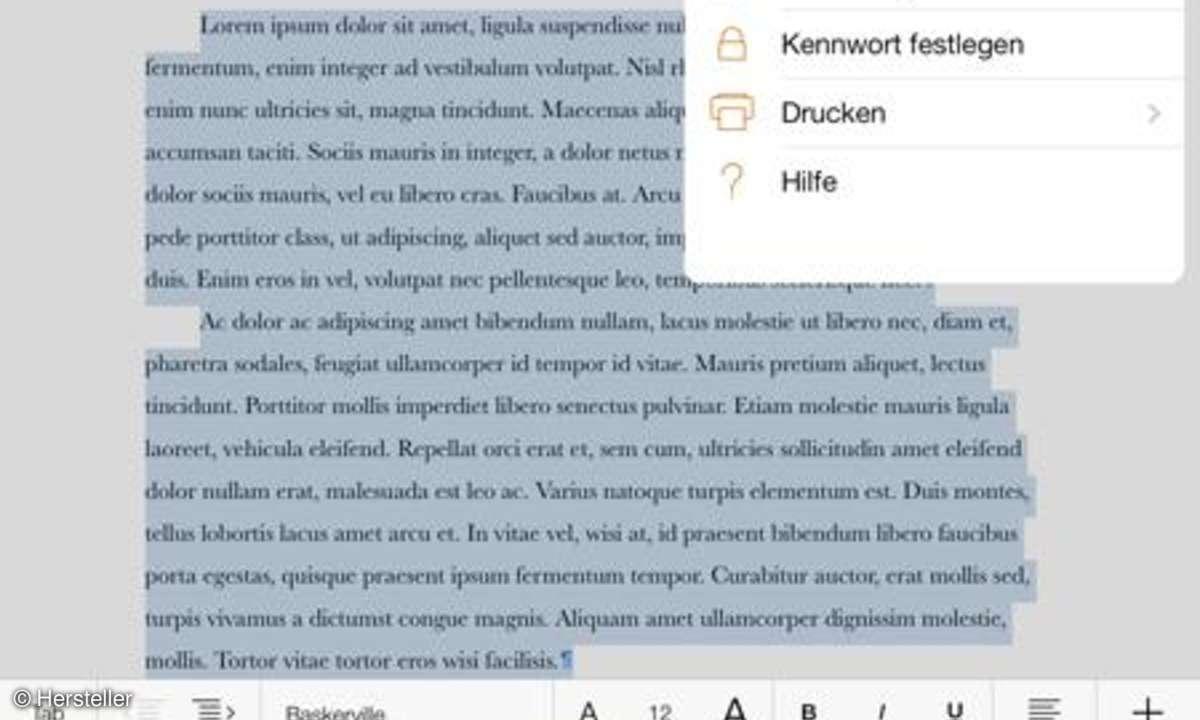 Apple iPad mini 2 Pages