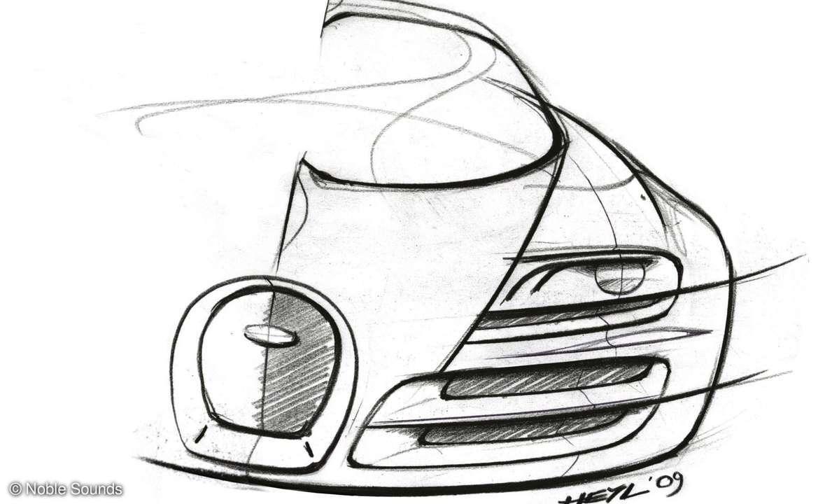 Bugatti Veyron Skizze