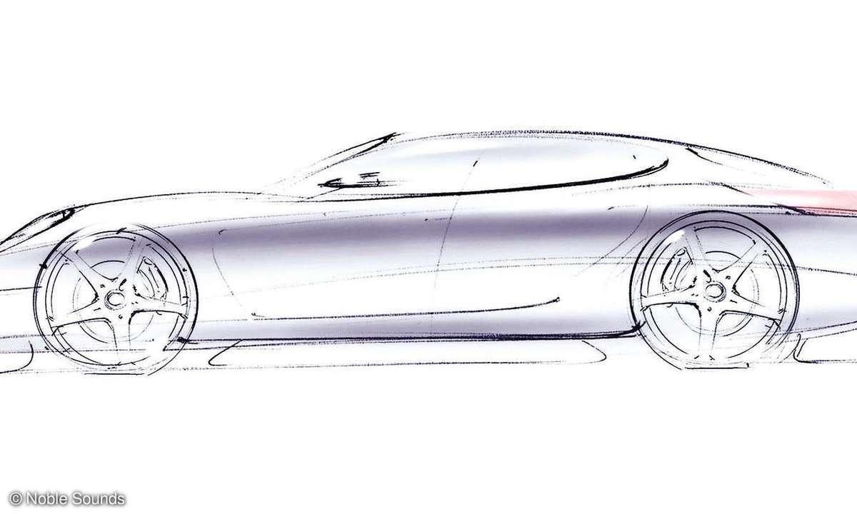 Porsche Panamera S Skizze