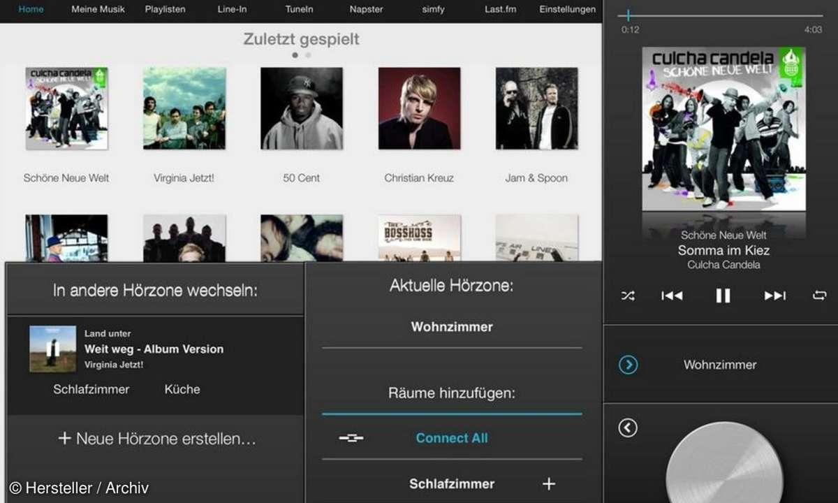 Raumfeld iPad-App