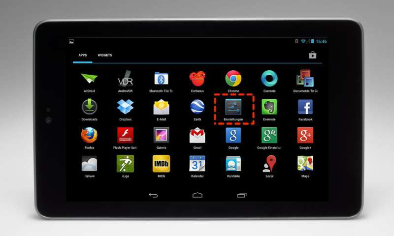 android tablet richtig einstellen connect. Black Bedroom Furniture Sets. Home Design Ideas