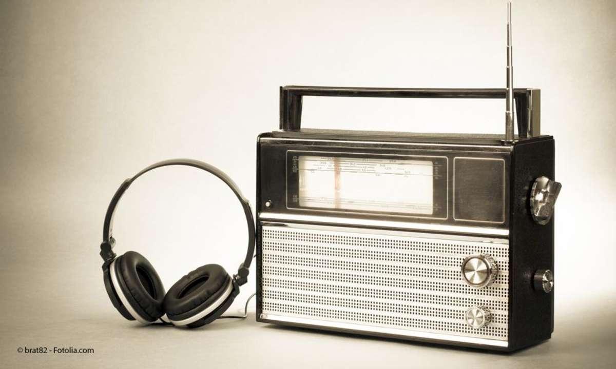 Transistorradio mit Kopfhörer