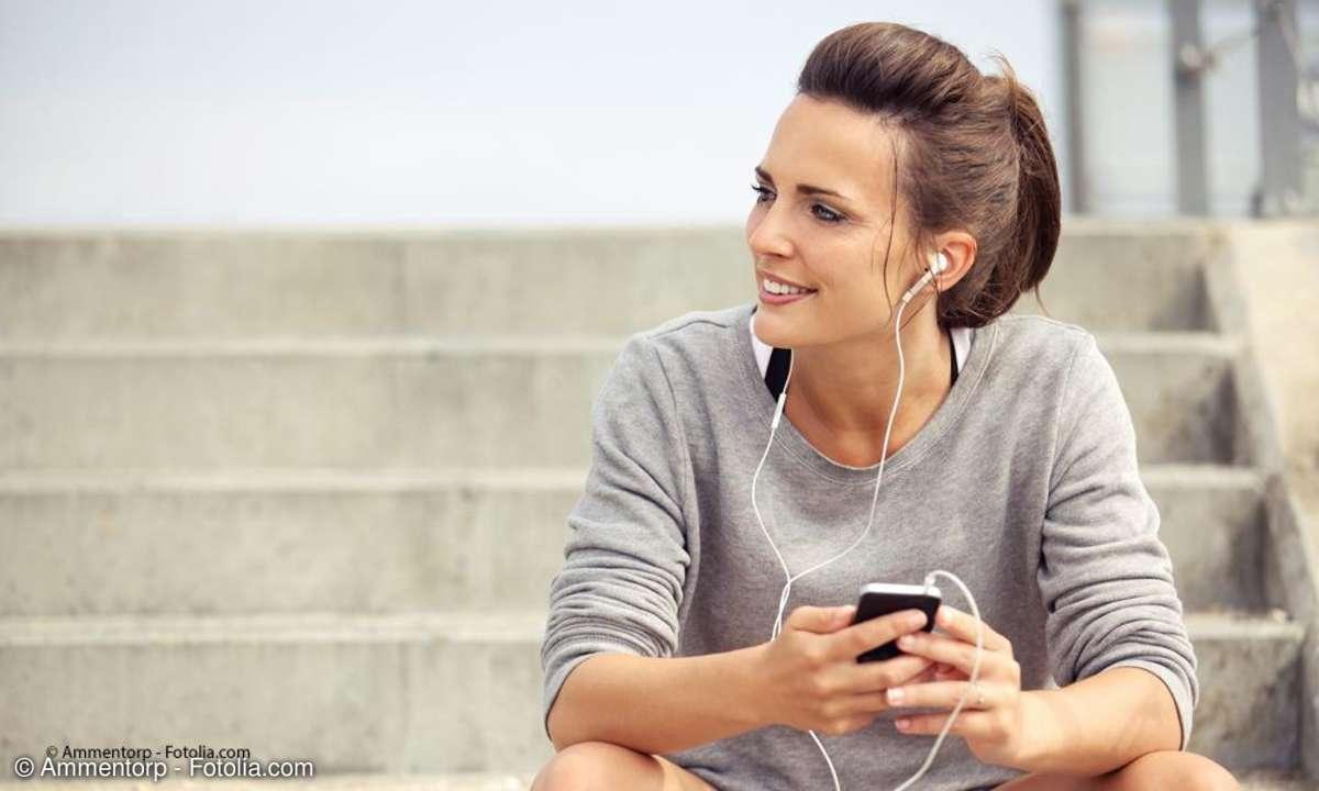 Kopfhörer beim Sport