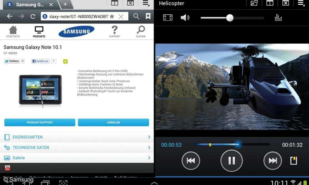 Samsung-Tablet Galaxy Note 10.1 - Multiscreen