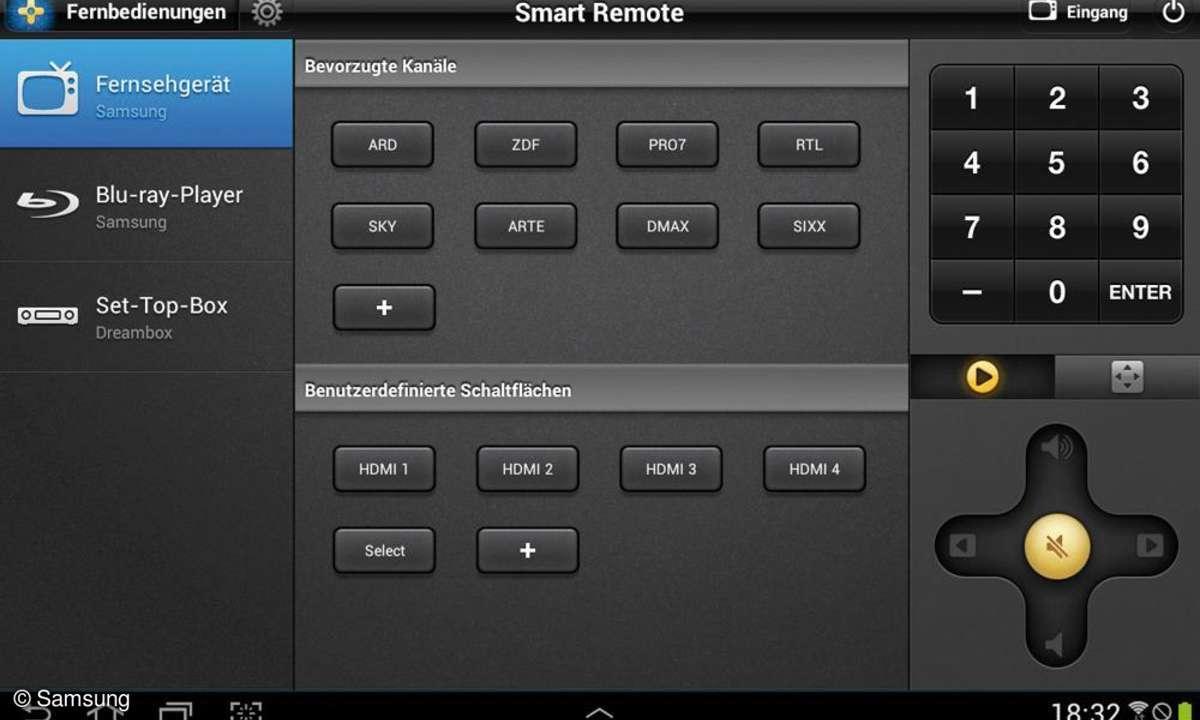 Samsung-Tablet Galaxy Note 10.1 - Smart Remote