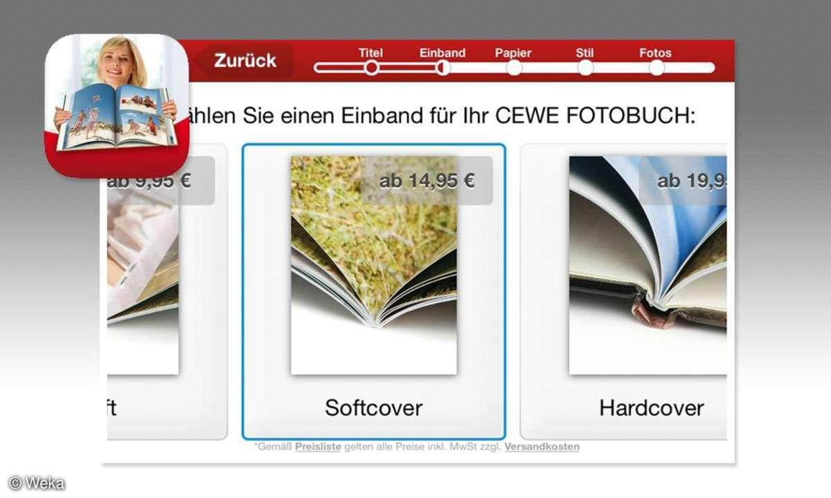 Fotobuch per Handy - Cewe Fotowelt