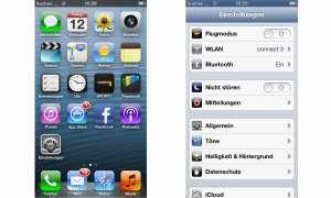 Einstellungen iPhone 5