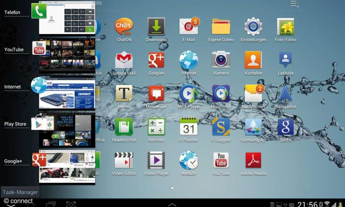 Galaxy Tab 2 10.1 - Multitasking-Talente