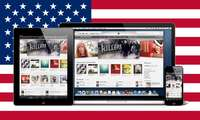 Apple MacBook, iPhone, iPad, USA-Flagge