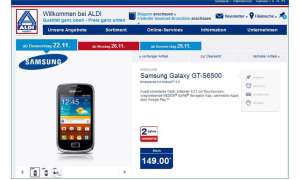 Aldi Nord Aktion, Samsung Galaxy Mini 2, Samsung Galaxy GT - S6500