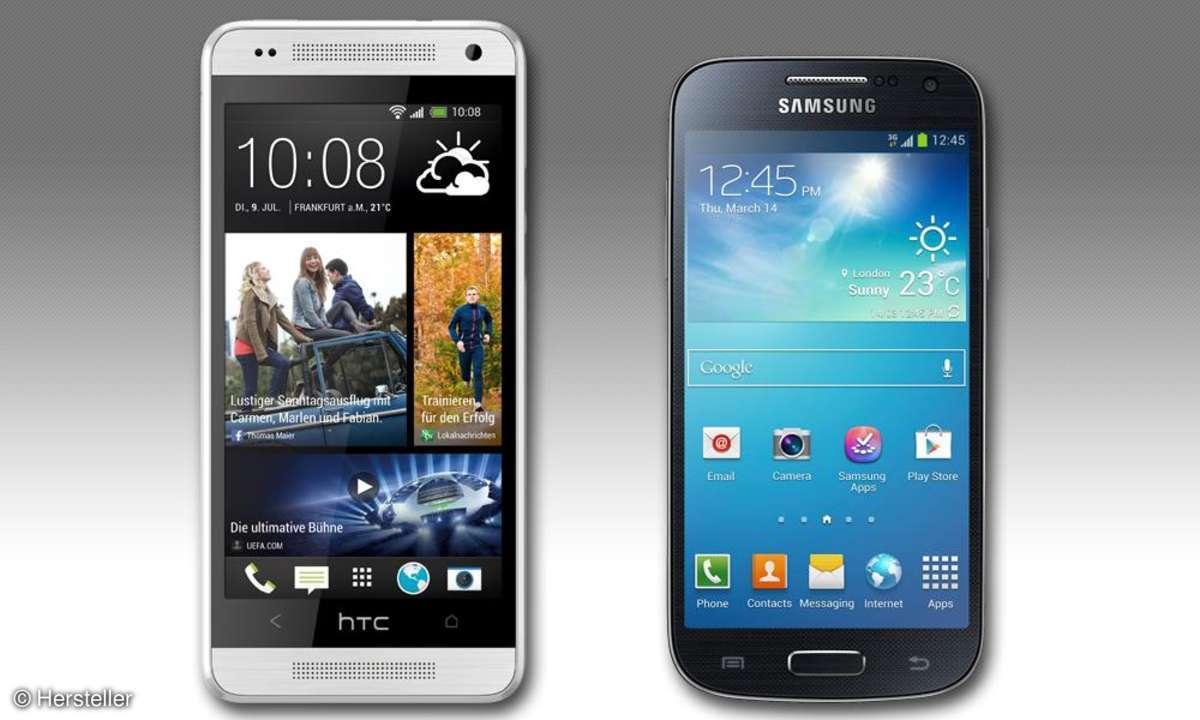 HTC One mini und Galaxy S4 mini