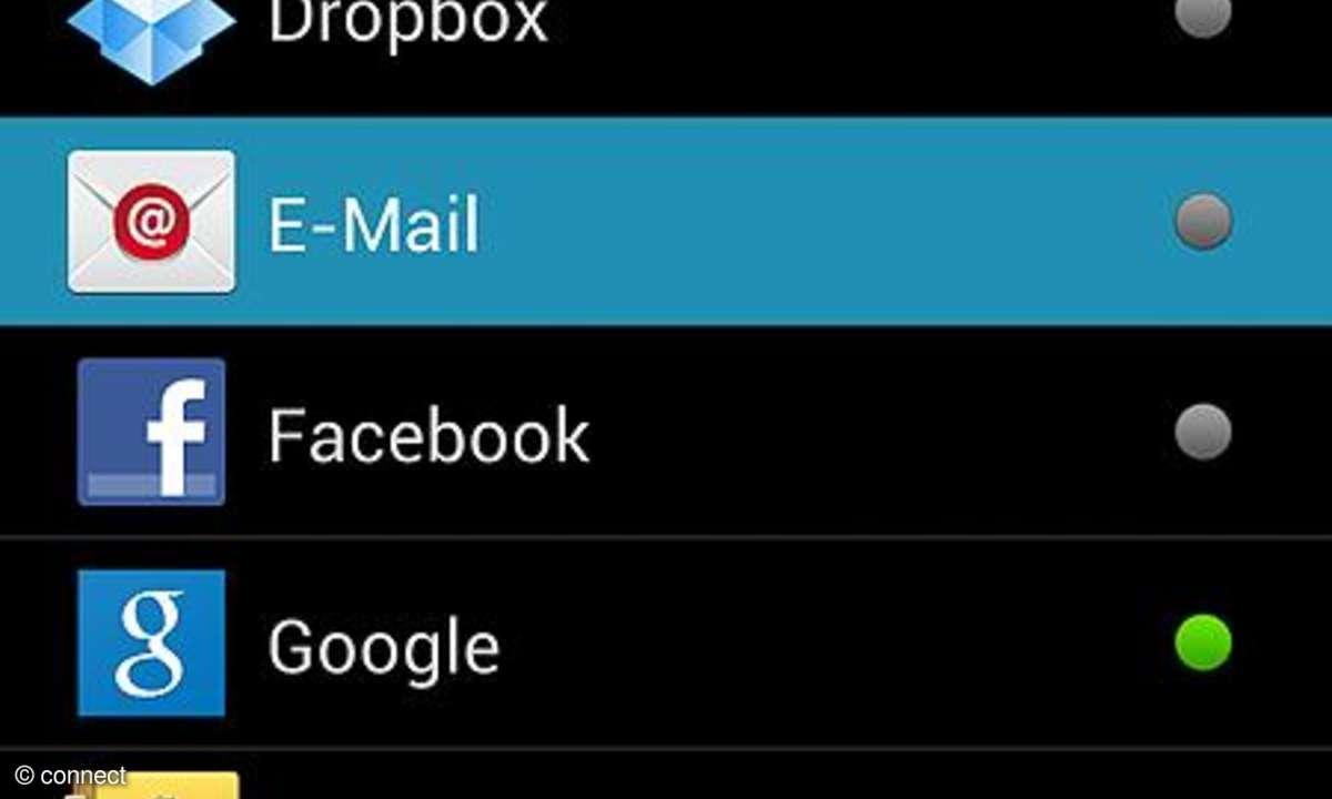 Mail-Accounts einrichten