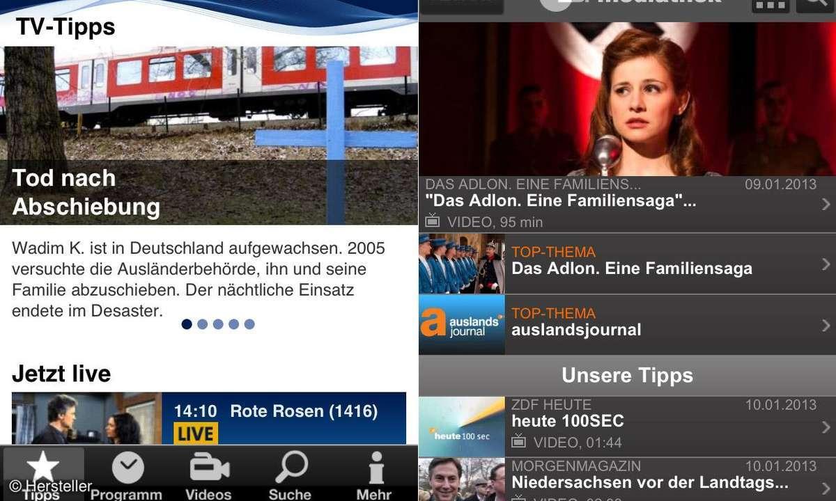 TV auf dem iPad