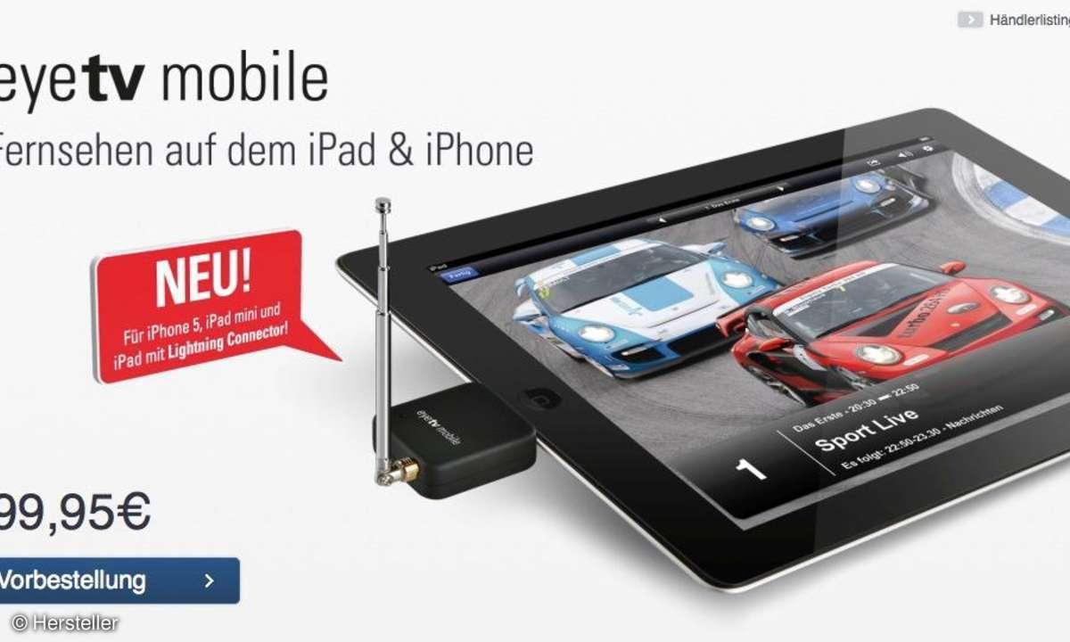EyeTV mobile Fernsehen auf dem iPad und iPhone