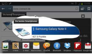 Samsung Galaxy Note 2: Clipping