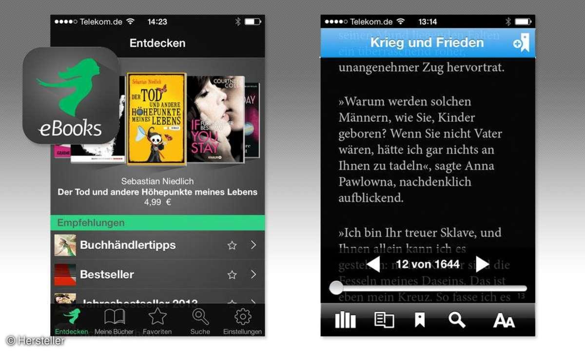 Smartphone,iPhone,E-Reader,Apps,Thalia eBooks