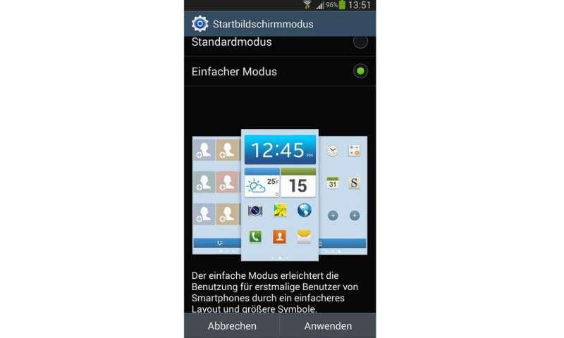 Samsung Einfacher Modus Widget