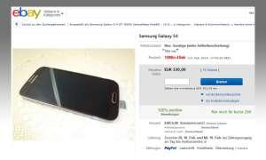 Ebay-Versteigerung Galaxy S4