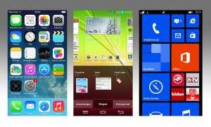 iOS,Android, Windows