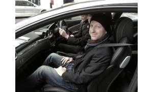 Stefan Schickedanz als Beifahrer im des Ferrari FF