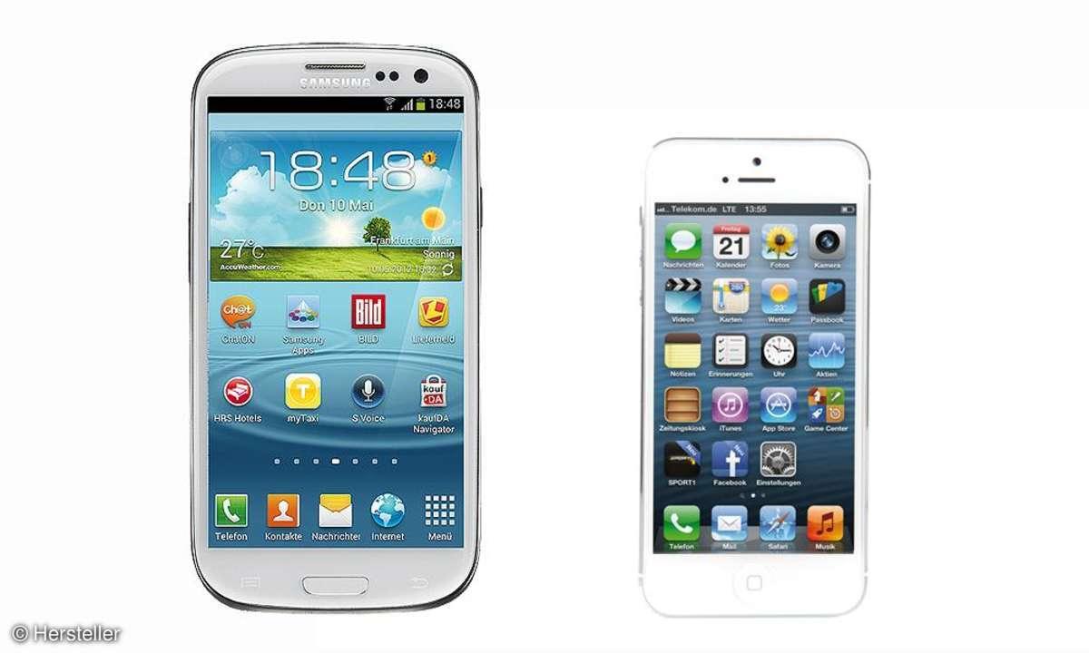 Galaxy S3 und iPhone 5
