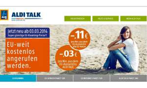 Aldi Talk,EU-Roaming