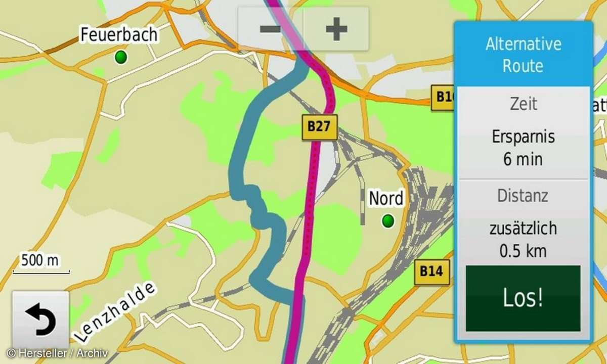 Garmin Nüvi 65 LMT Routenplanung