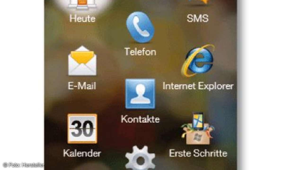 HTC Touch 2 Hauptmenü