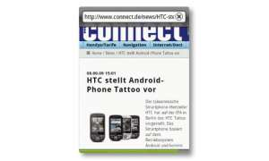 HTC Tattoo Internet