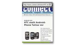 HTC Tattoo Internet