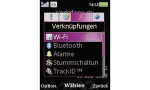 Sony Ericsson W705 Menü