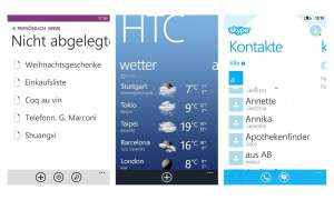 HTC 8S Apps - Screen